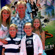 Candace Cameron Bure, husband Valeri Bure, sons Lev, Maksim and daughter Natasha - Stock Photo