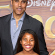 Rick Fox, Daughter Sasha Gabriella Fox — Stock Photo