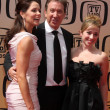 Tim Allen, wife, older daughter — Stock Photo