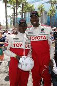 Eric Dickerson & John Salley — Stock Photo