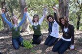 Rachelle Carson, Leeza Gibbons, Marisa Ramirez, Claudia Jordan — Stock Photo