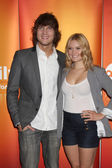 Scott Michael Foster, Spencer Grammer — Stock Photo