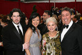 Jason and Ivan Reitman , and wives — Stock Photo