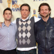 Justin Bartha, Ed Helms and Bradley Cooper - Стоковая фотография