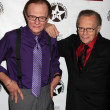 Постер, плакат: Larry King Wax figure Purple shirt Larry King