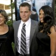 Stock Photo: Matt Damon & wife Lucianand his mother
