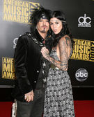Nikki Sixx, Kat VonD — Stock Photo