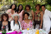 Judy Place Flood, Julia Pace Mitchell, Hattie Winston, Judy Elder, Marla Gibbs, Beverly Todd, Nichelle Nichols, Tonya Lee Williams — Stock Photo