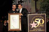 Ringo Starr, Antonio Villaraigosa — Stock Photo