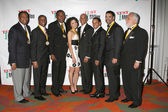Tavis Smiley, Dennis Holmes, Willis Edwards (For Julian Bond), Jurnee Smolett, Phil Wilson, Jesse Milan, Jr., Danny Bakewell Jr, Danny Bakewell — Stock Photo