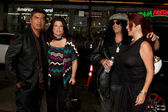 George Lopez, Slash and Wives — Foto de Stock