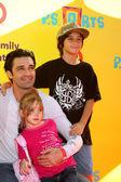 Gilles Marini & Children — Stock Photo