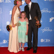 Maura West, Daughter Kate, Michael Park - Stock Photo