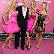 Holly Madison, Hugh Hefner, Bridget Marquardt, and Kendra Wilkinson - Stock Photo