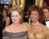 Meryl Streep and Sophia Loren — Stock Photo