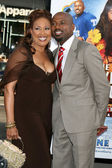 Telma Hopkins & Romany Malco — Stock Photo