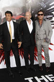 Sylvester Stallone, Bruce Willis & Mickey Rourke — Stock Photo