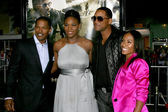 Jamie Foxx, Serena Williams, Will, Jada Smith — Stock Photo