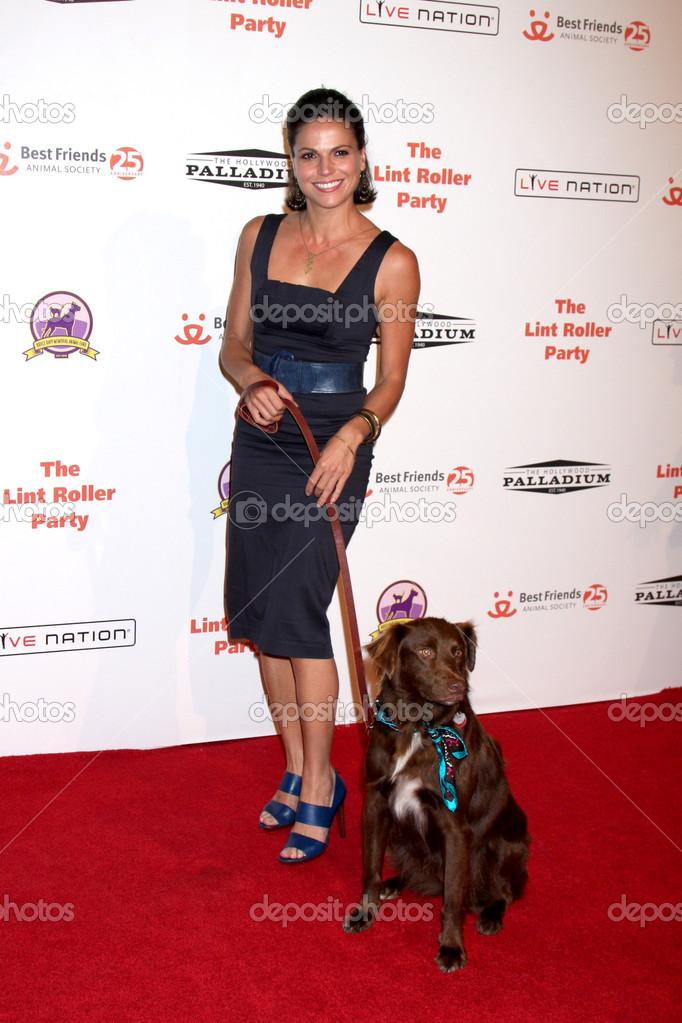 Lana Parrilla dog