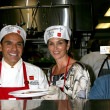 Cindy Crawford & LA Mayor Antonio Villaraigosa — Foto Stock