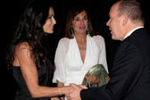 Demi Moore & HSH Prince Albert II of Monaco — Stock Photo