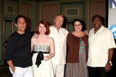 Oscar Nunez, Kate Flannery, Creed Bratton, Phyllis Smith, and Le — Stock Photo