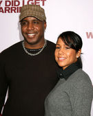Barry Bonds & Wife — Stock Photo