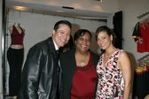 Yancy Arias, his mom, and Constance Marie — Foto Stock