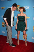 Cory Monteith & Jayma Mays — Stock Photo