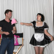 Постер, плакат: Daniel Goddard with Singing Telegram Actress