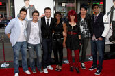 Danny Gokey, Kris Allen, Matt Giraud, Lil Rounds, Allison Iraheta, Adam Lambert and Anoop Desai — Stock Photo