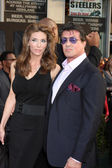 Sylvester Stallone, Wife Jennifer Flavin — Stock Photo