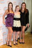 Edyta Sliwinska , Melissa Joan Hart, & Natalie Coughlin — Stock Photo