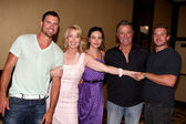 Joshua Morrow, Melody Thomas Scott, Amelia Heinle, Eric Braeden — Stock Photo