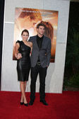 Miley Cyrus and Liam Hemsworth — Stock Photo