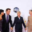 Alec Baldwin and wife, Ellen DeGeneres, Portia DeRossi — Stock Photo