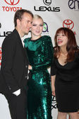 Tyler Shields, Francesca Eastwood, Frances Fisher — Stock Photo