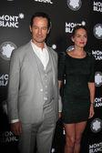 Sebastian Copeland and wife Caroline — Stock Photo