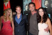 Leven Rambin, Jonny Weston, Gerard Butler, Abigail Spencer — Stock Photo