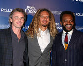 Sam Trammell, Rob Machado, Sal Masekela — Stock Photo