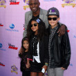 Stock Photo: Wayne Brady, niece, nephew, daughter