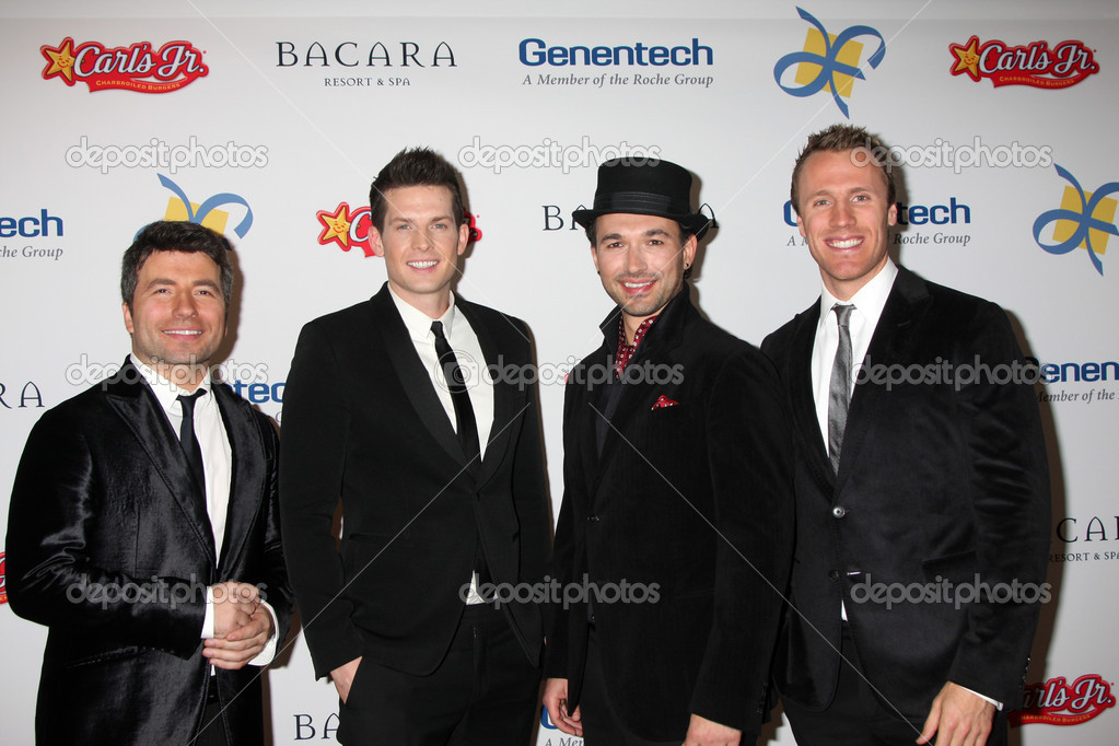 LOS ANGELES - NOV 16: The Tenors arrives for the 11th Annual Celebration of Dreams at Bacara Resort & Spa on November 16, 2012 in Santa Barbara, CA. — Stock Photo #15186427