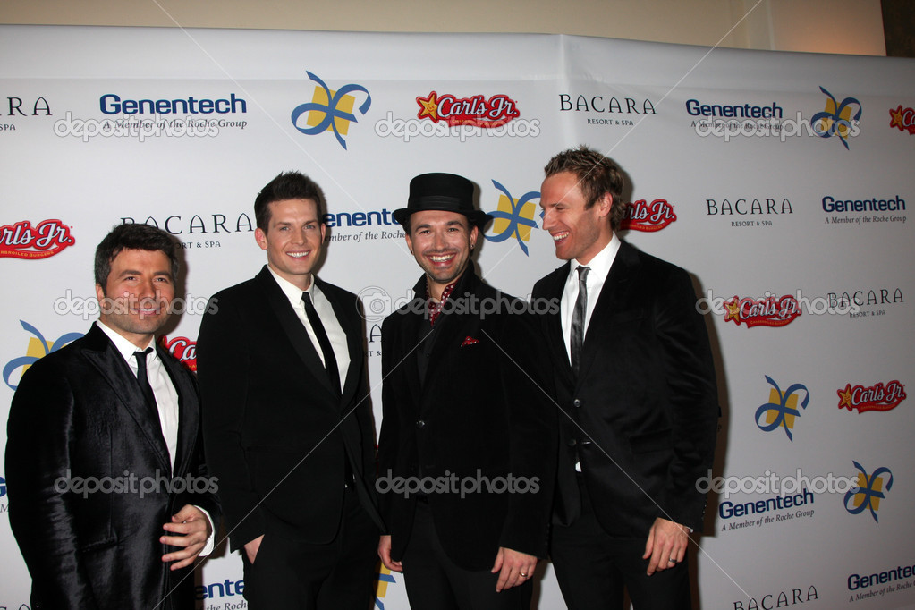 LOS ANGELES - NOV 16: The Tenors arrives for the 11th Annual Celebration of Dreams at Bacara Resort & Spa on November 16, 2012 in Santa Barbara, CA. — Stock Photo #15186467