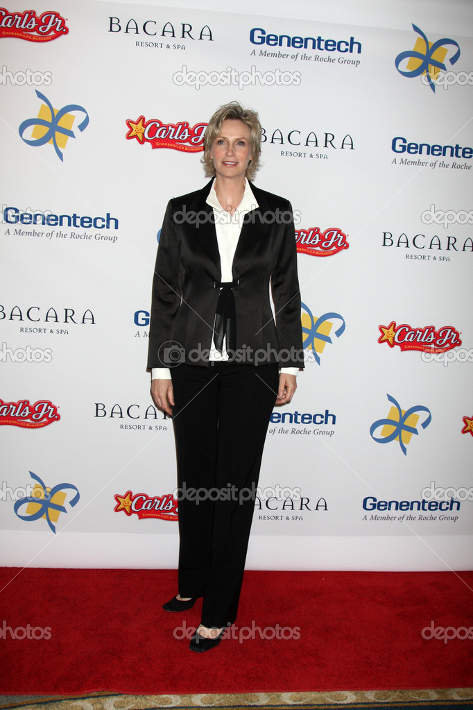 LOS ANGELES - NOV 16:  Jane Lynch arrives for the 11th Annual Celebration of Dreams at Bacara Resort &amp; Spa on November 16, 2012 in Santa Barbara, CA.  Stock Photo #15189753