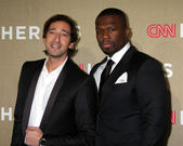 Adrien Brody, 50 Cent, aka Curtis Jackson — Stock Photo