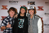 LOS ANGELES - DEC 6: Emblem3 arrives to the X Factor 2012 Final Four Party at Rodeo Drive on December 6, 2012 in Beverly Hills, CA — Stock Photo
