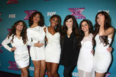 Fifth Harmony, with Demi Lovato — Stock Photo