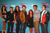 Jenni Farley, Ronnie Ortiz-Magro, Sammi Giancola, Mike 'The Situation' Sorrentino, Nicole 'Snooki' Polizzi, Paul DelVecchio, Vinny Guadagnino — Stock Photo