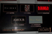 Original Screenplay Nominations — Stock Photo