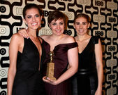 Allison Williams, Lena Dunham, Zosia Mamet — Stock Photo
